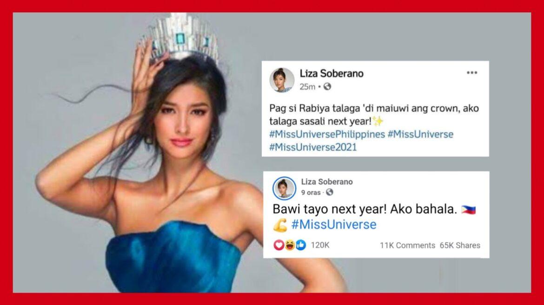 Liza Soberano, nagsabing ibabawi next year ang pagkatalo ng Pilipinas sa Miss Universe?