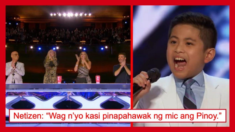 10-taong gulang na Pinoy, nagpabilib sa America's Got Talent