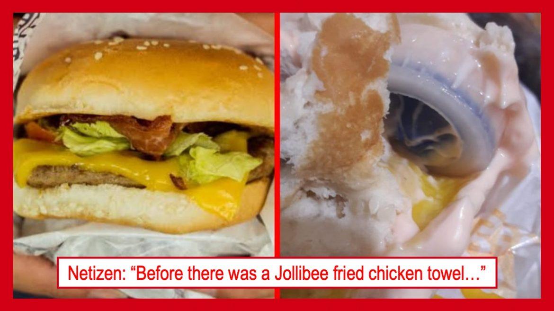 Burger na may palamang plastic cap, inireklamo ng isang customer