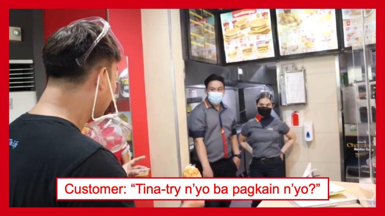 Jollibee customer, harap-harapang 'inireklamo' sa manager ang kinakaing Chickenjoy