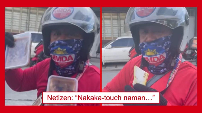 MMDA traffic enforcer na nagtitinda ng kakanin tuwing day off, inulan ng papuri mula sa netizens