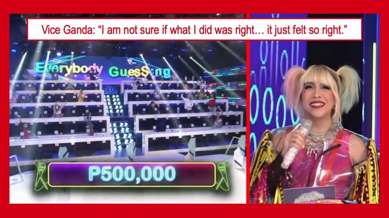 """Vice Ganda, """"nandaya"""" sa sariling game show para manalo ang mga contestants?"""