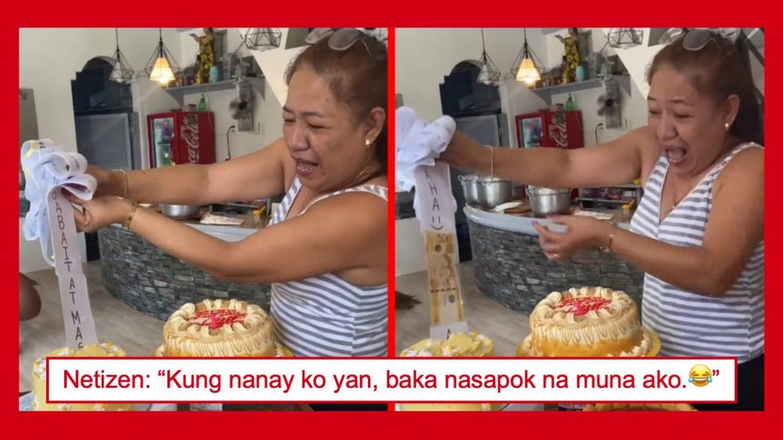 Video ng nakakaaliw na reaksiyon ng isang nanay sa 'money cake' para sa kanyang birthday, nag-viral