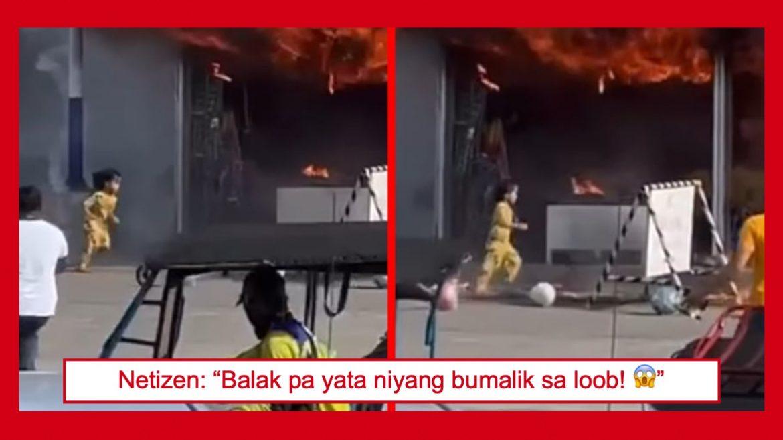 Video ng pagtakbo ng isang bata mula sa nasusunog na gusali, nag-viral sa social media